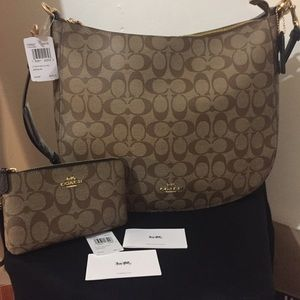 Authentic Coach Elle Hobo shoulder bag & wallet